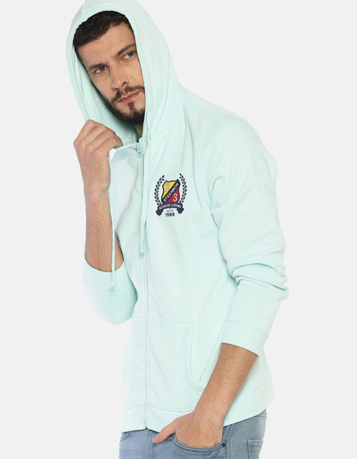 Steenbok Men's Pink Hooded Sweatshirt