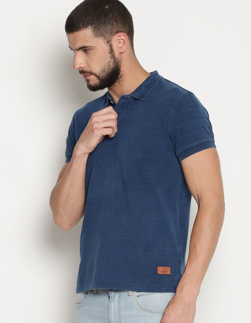 Men's Indigo Denim Polo T-Shirt