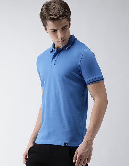 Men's Azure Go-Polo Odour-Free T-Shirt