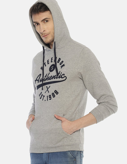 Steenbok Men's Grey Hooded Sweatshirt