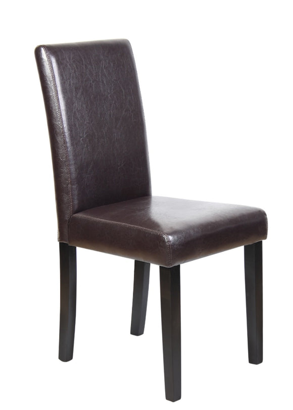 Montina Wooden Dining Chairs Brown 2x