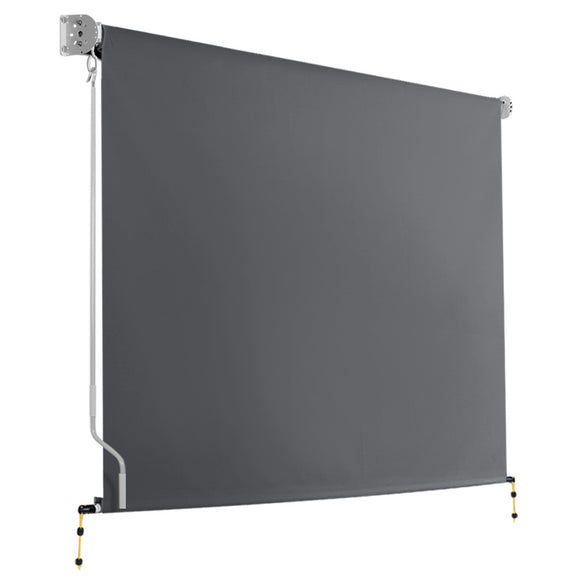 Instahut 2.4m x 2.5m Retractable Roll Down Awning - Grey
