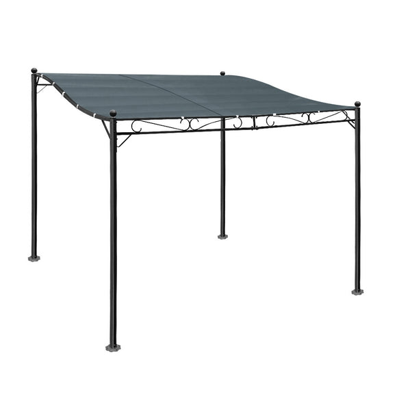 Instahut Gazebo 3x2.55m Party Marquee Outdoor Wedding Tent Iron Art Canopy Grey