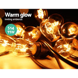 Jingle Jollys 47m Festoon String Lights Christmas Bulbs Party Wedding Garden Party