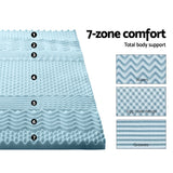 Giselle Bedding Cool Gel 7-zone Memory Foam Mattress Topper w/Bamboo Cover 5cm - Double