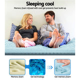 Giselle Bedding Cool Gel 7-zone Memory Foam Mattress Topper w/Bamboo Cover 8cm - Double