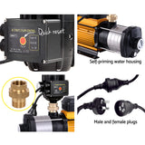 Giantz Multi Stage Water Pump Pressure Rain Tank Garden Farm House Irrigation 2000W Black Controller
