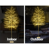Jingle Jollys 2.1M LED Christmas Branch Tree 480 LED Xmas Warm White Optic Fiber
