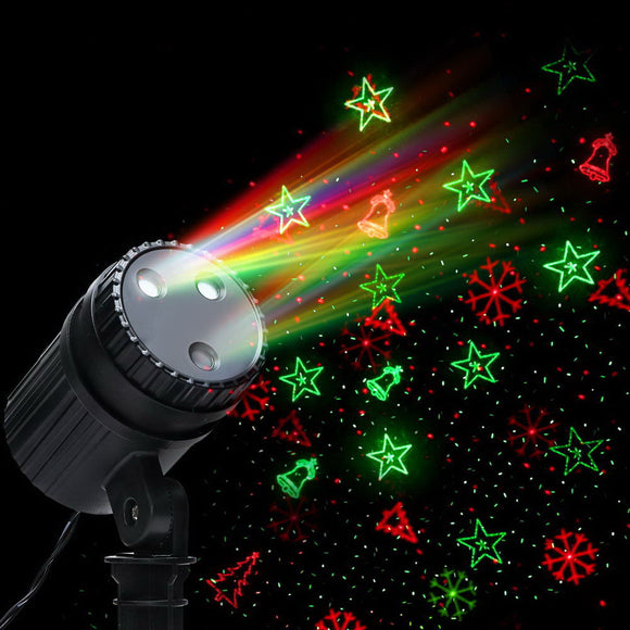 Jingle Jollys Moving LED Lights Laser Projector Landscape Lamp Christmas Decor