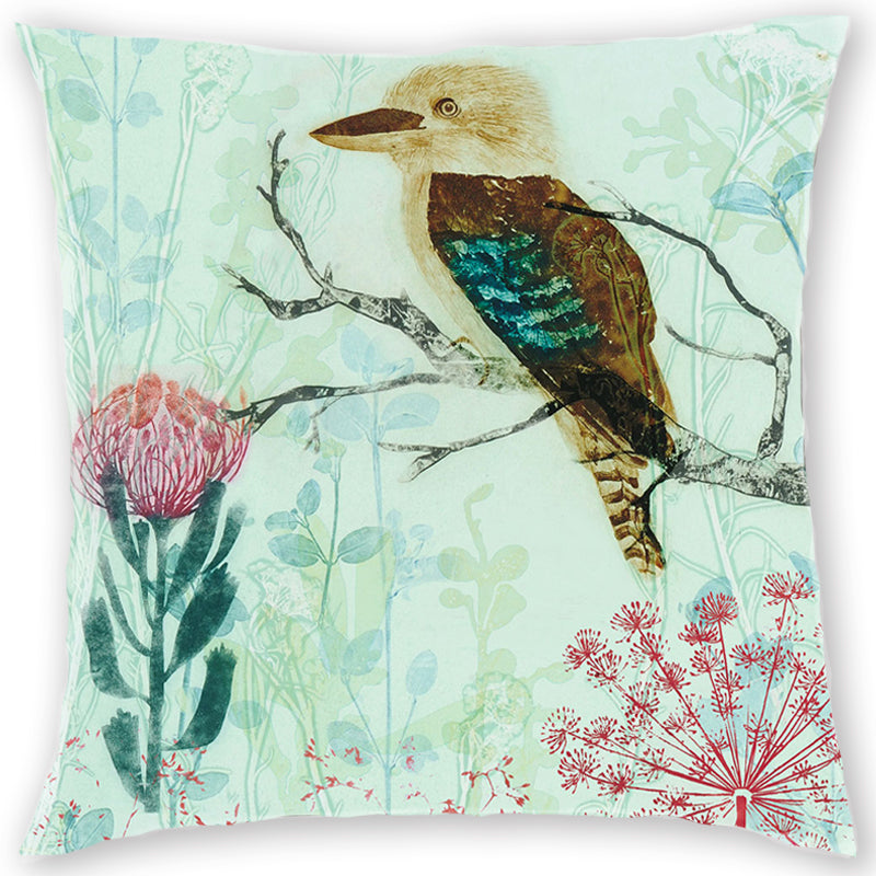 Kookaburra and Queens Lace Designer Cushion Cover