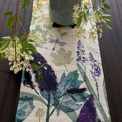 garden series, special order, table runner, garden, linen, table, homewares