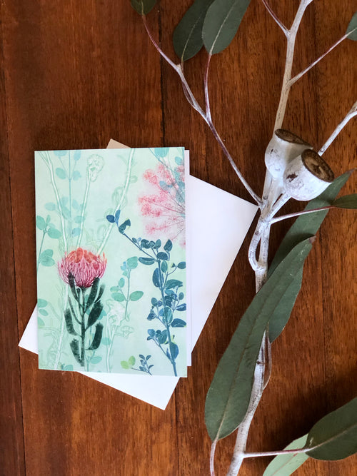 Pink Protea Greeting Card
