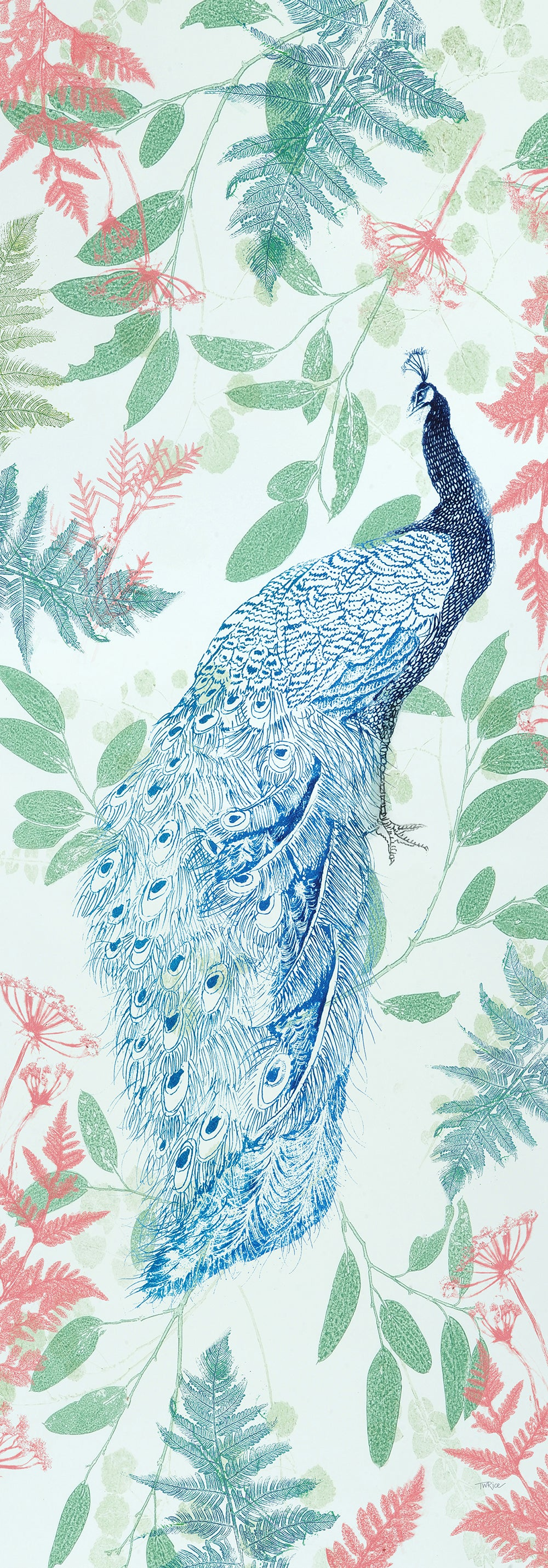 Peacock Design Scarf