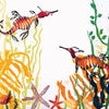 Square Greeting Card 'The Playful Sea Dragons'