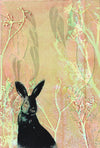 "ARTWORK ""Wild rabbit hiding in my garden"""
