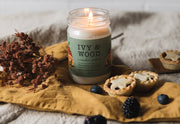 Christmas - Indoor Plant and Ivy & Wood Soy Candle - Bosque