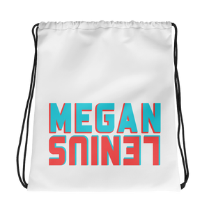 Megan Lenius Logo Drawstring bag