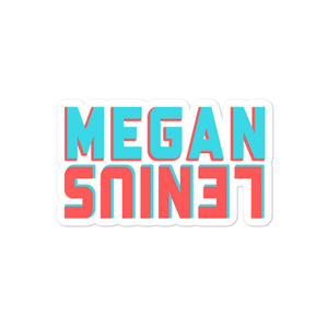 Megan Lenius Logo Sticker