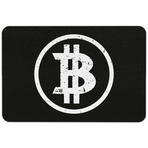 Bitcoin Basics Floormat - Dark - URBitcoinwear Bitcoin Fashion Store