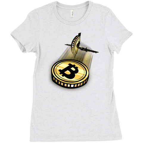 Bitcoin Breakout T-Shirt - Women's Edition - URBitcoinwear Bitcoin Fashion Store