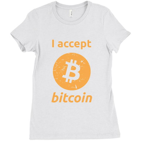 I accept bitcoin T-Shirt - Women's Edition - URBitcoinwear Bitcoin Fashion Store