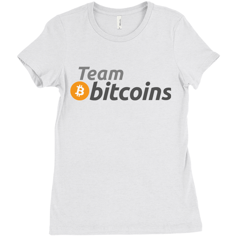 Team Bitcoins - Women's Edition - URBitcoinwear Bitcoin Fashion Store