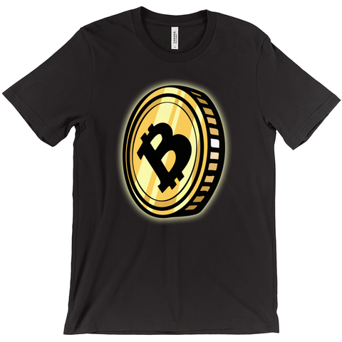 Bitcoin Big Coin T-Shirt - URBitcoinwear Bitcoin Fashion Store