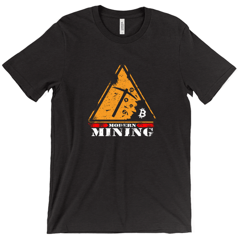 [NEW DESIGN] Modern Mining Bitcoin T-Shirt - URBitcoinwear Bitcoin Fashion Store