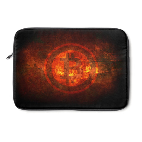Bitcoin On Fire Laptop Case - URBitcoinwear Bitcoin Fashion Store
