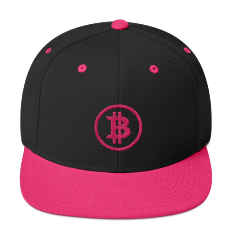 Bitcoin Structured Snapback Hat - 3 Colors - URBitcoinwear Bitcoin Fashion Store