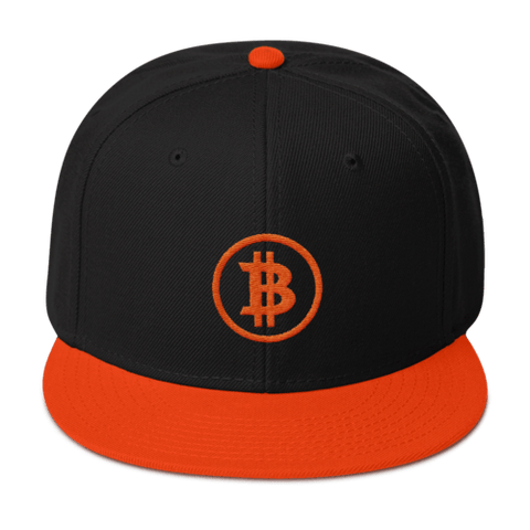 Orange Bitcoin Basics Snapback - URBitcoinwear Bitcoin Fashion Store