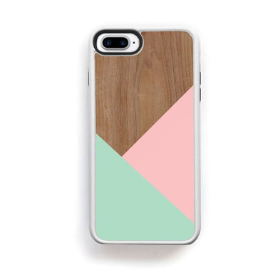 Wood Pink Turquoise Design For Iphone 7 Plus Home - Electronics