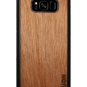 Slim Wooden Samsung Galaxy Case Black S8 / Mahogany Product