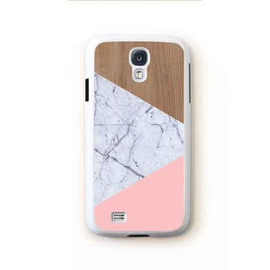 Wood Marble Pink Design For Galaxy S4 Home - Electronics