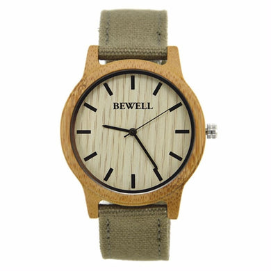 The Nubian Wooden Watch With Canvas Strap Product