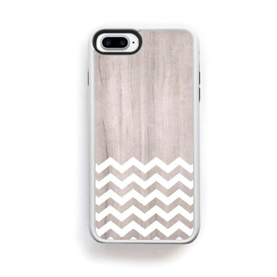 Zig Zag White On Light Wood For Iphone 7 Plus Home - Electronics