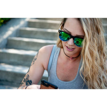 Mens & Womens Clear Grey Framed- Zebra Wood Clubmaster Sunglasses - Mirror Lenses Product