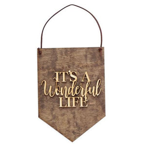 Its A Wonderful Life Wood Sign Wall Decoration