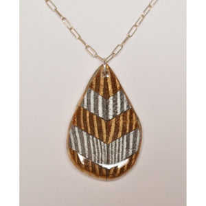 Silver And Gold Teardrop Women - Jewelry - Necklaces