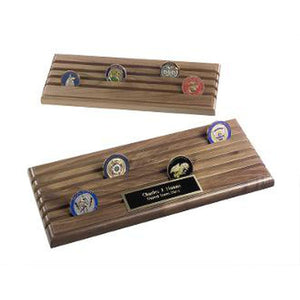 Coin Display Rack With 6 Rows Walnut Wood Holds Up To 36 Coins Hand Made By Veterans Home - Wall Art