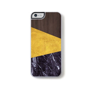Dark Wood Gold And Dark Marble Simple Modern For Iphone 5 Home - Electronics