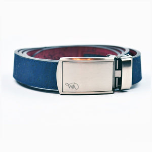 Unisex Cork Belt | Indigo/wine Men - Accessories - Belts