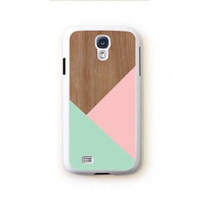 Wood Pink Turquoise Design For Galaxy S4 Home - Electronics