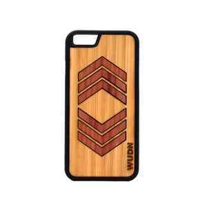 Slim Wooden Phone Case | Geometric Arrow Inlays Product