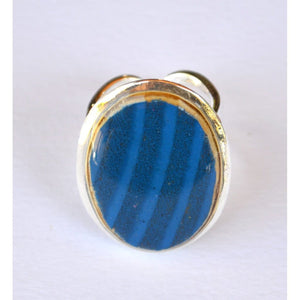 Blue Oval Ring Women - Jewelry - Rings
