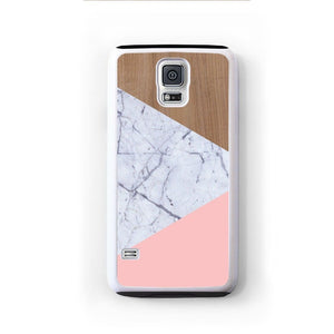 Wood Marble Pink Design For Galaxy S5 Home - Electronics
