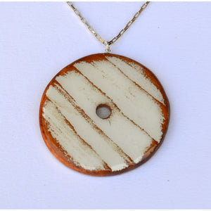 Circle With Stripes Women - Jewelry - Necklaces