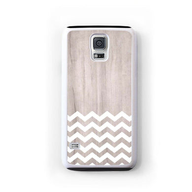 Zig Zag White On Light Wood For Galaxy S5 Home - Electronics