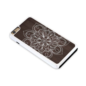 Mandala White Lines On Dark Wood For Iphone 6 Plus Home - Electronics