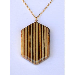 Elongated Hexagon Small Women - Jewelry - Necklaces